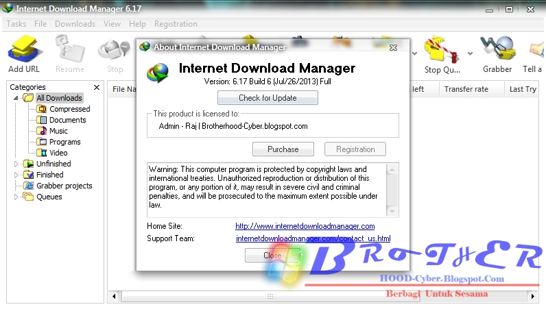Internet Download Manager 6.17 Build 6 Patch Only