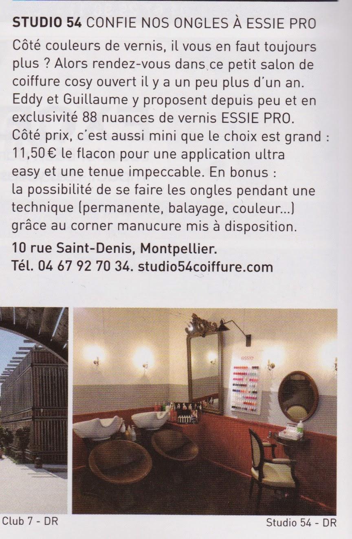 Article dans le N° 7 de Grizette magazine d'avril - mai 2014 concernant notre gamme de vernis à ongle Essie Pro.