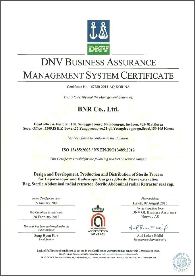 Vaxcon Information Iso 13485 Certificate