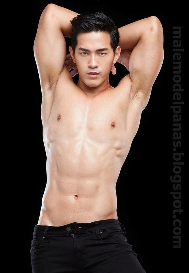 cute shirtless asian men Aun warit from Thailand