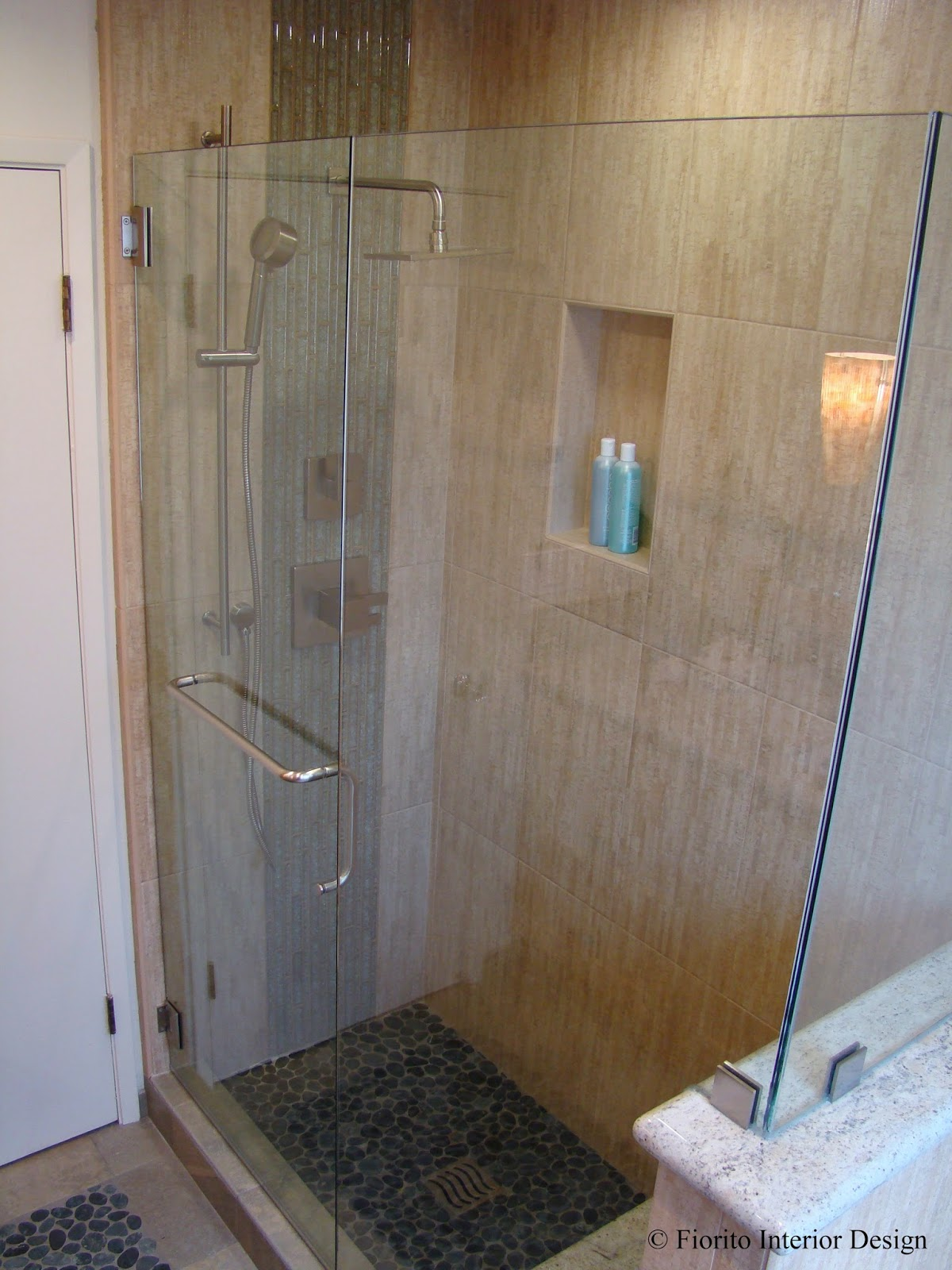 Fiorito interior design an island bathroom by fiorito interior design Bathroom tile showers