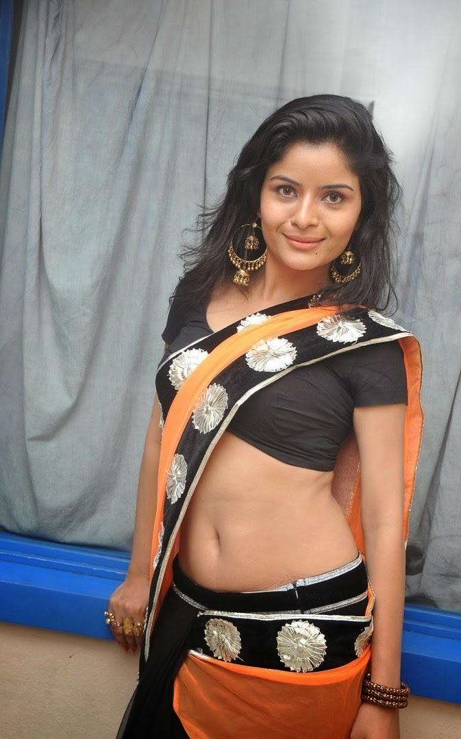 Gehana Vasisth Latest Stills In Transparent Sexy Saree