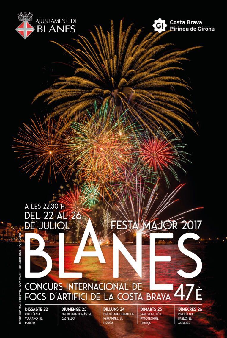 47è Concurs Internacional de Focs d'Artifici de la Costa Brava. Trofeu Vila de Blanes 2017