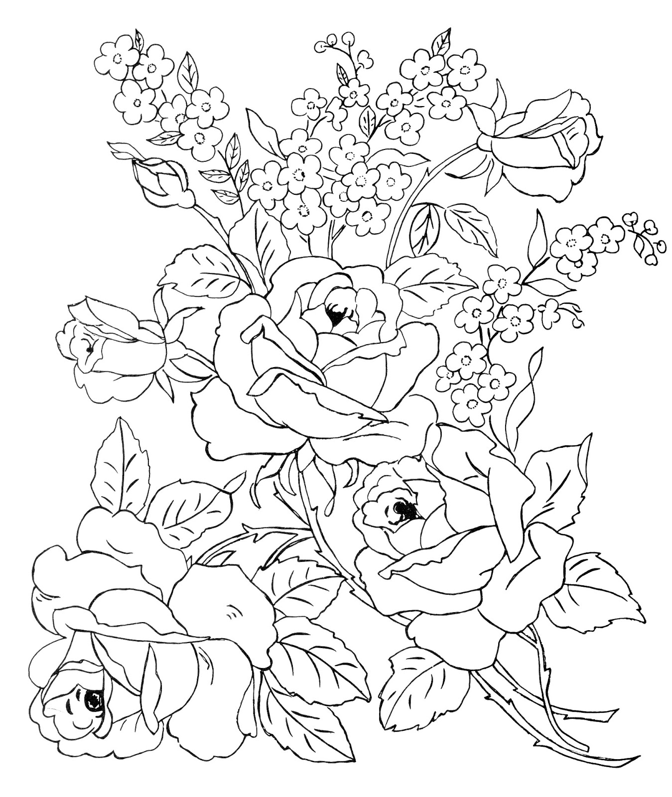 hard coloring pages of flowers - difficult isometric drawing exercises sketch coloring page