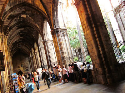 Gothic cloister of the Barcelona Cathedral