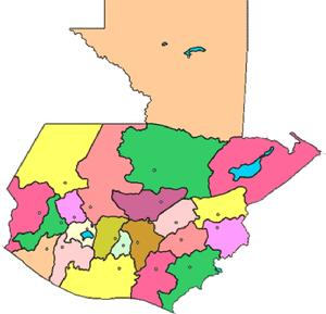 el mapa de guatemala