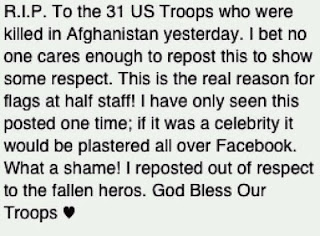 meme about honoring dead troops and nobody will ever repost it and blah blah blah