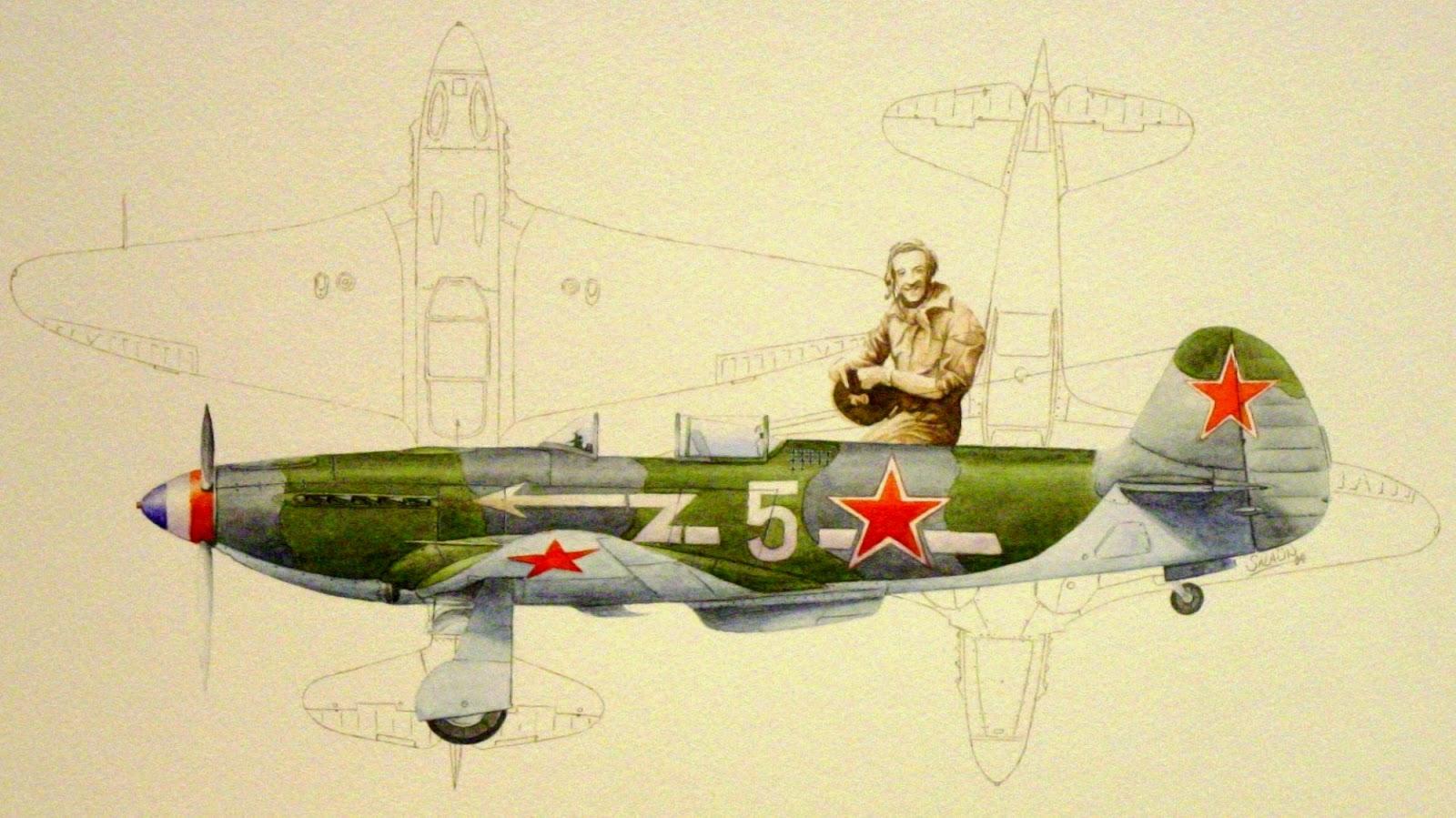 Yakovlev Yak-3 Aspirant Roger Sauvage GC3 Normandie-Niémen