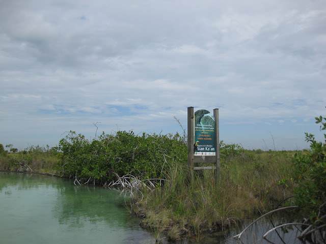 Sign at the Entrance to Sian Ka'an Biosphere Tulum, Mexico