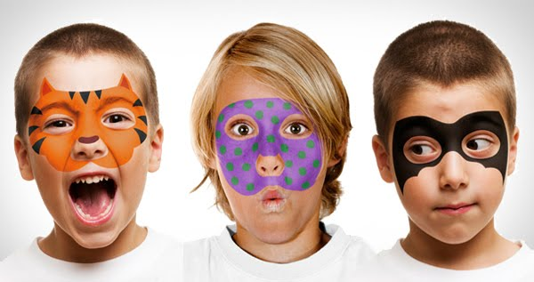 Face Art - Face Paint & Stencils Set