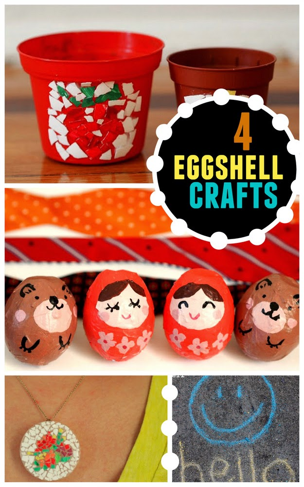 4 Eggshell Crafts to make for Easter with the kids