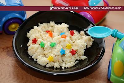 Cuscus cu lapte si vanilie pentru copii