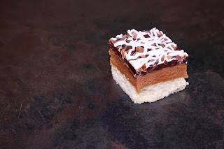 Billionaire's shortbread with salted caramel and butterscotch pieces