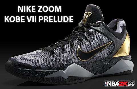 NBA 2K14 Nike Kobe VII Prelude Shoes Patch