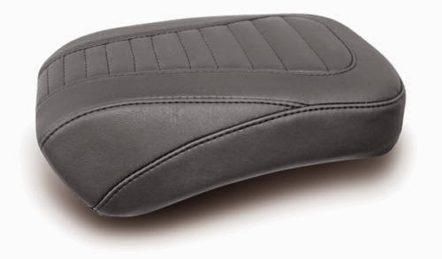 Mustang Tuck and Roll Tripper Rear Passenger Seat for 2008-2015 Harley Touring
