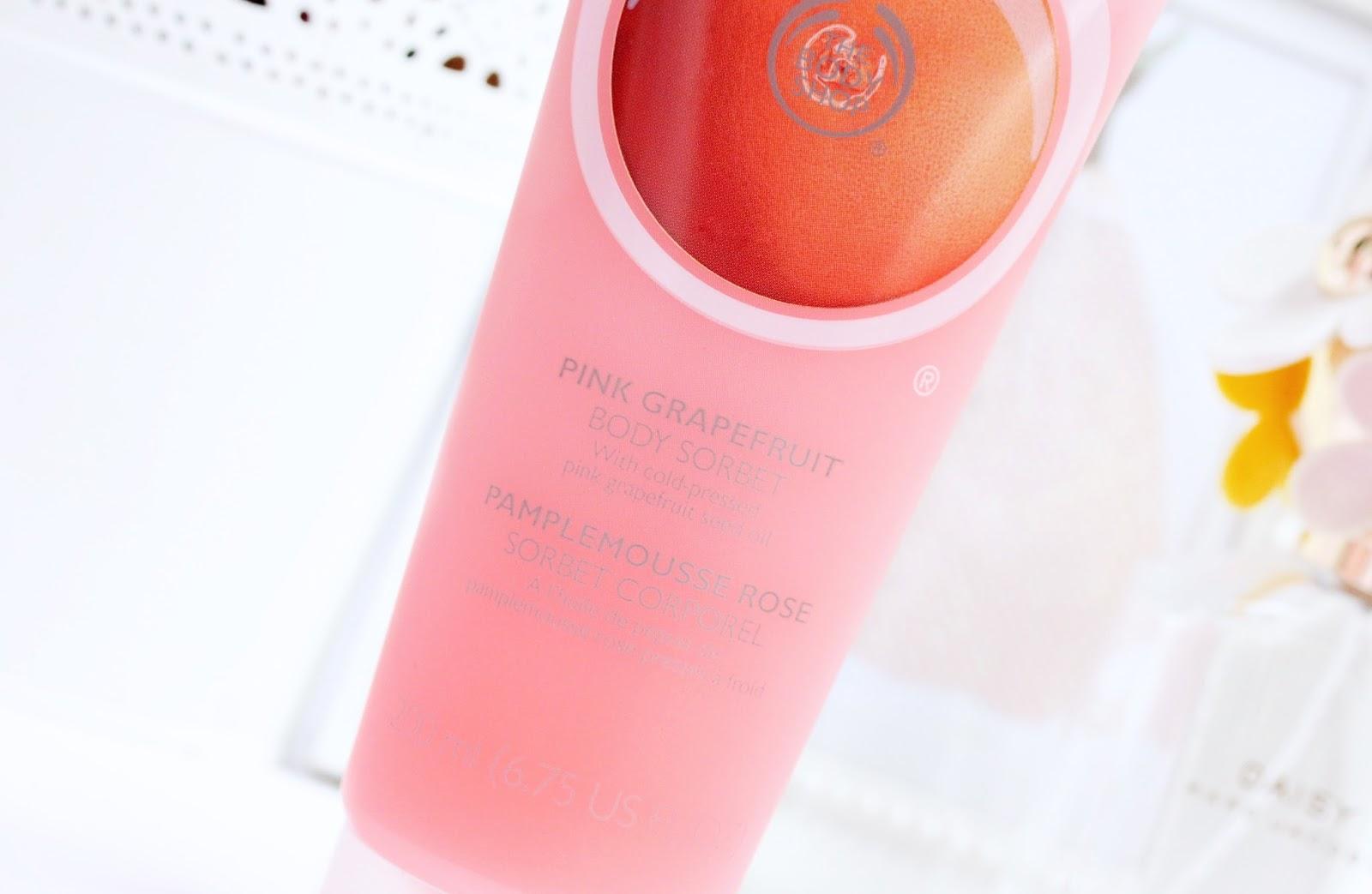 the body shop pink grapefruit body sorbet