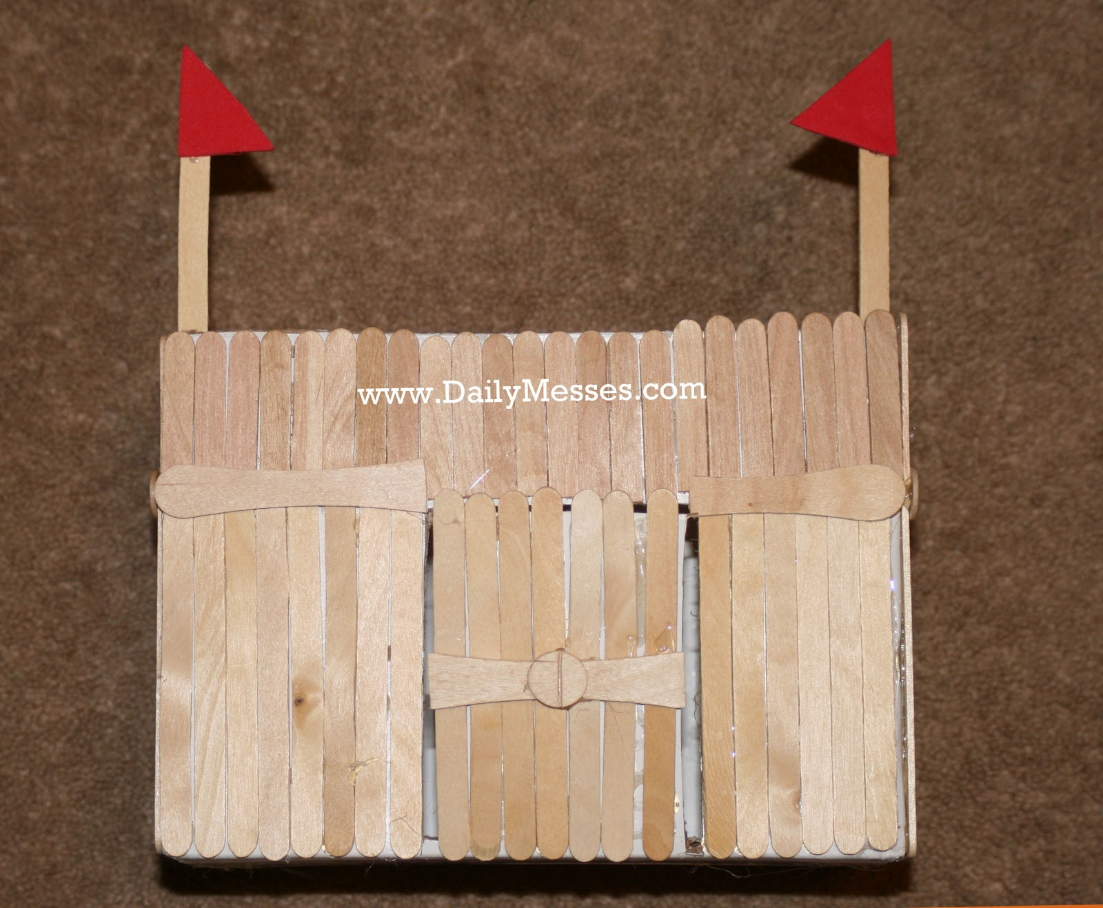 Daily messes fun with popsicle sticks homemade fort and What to make out of popsicle sticks