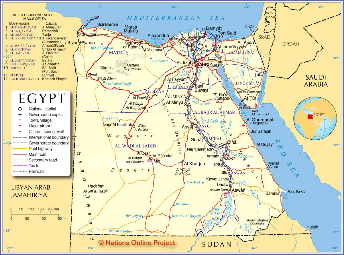 Egypt Map HD World Maps - Map of egypt hd