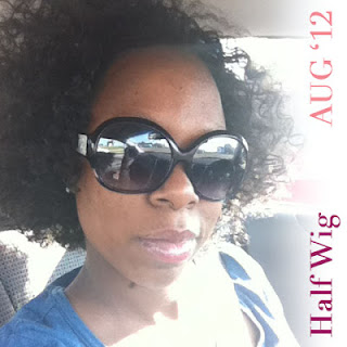 natural hair half wig outré evony
