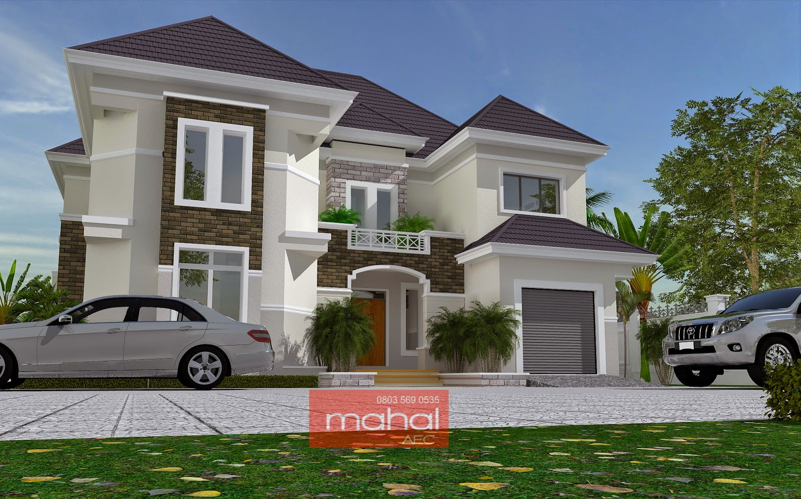 Contemporary nigerian residential architecture ovie house for Architectural designs for 3 bedroom flat