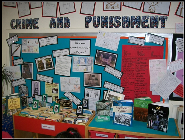 Classroom Punishment Ideas : Creative teaching displays crime and punishment classroom