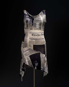 John Galliano for Christian Dior Newsprint Dress