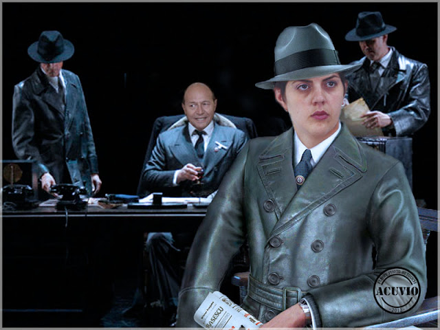 Funny image Laura Codruţa Kovesi Traian Băsescu Gestapo