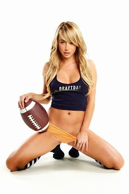 Sara Jean Underwood DraftDay Fantasy Football Photoshoot