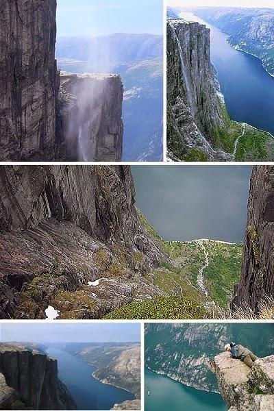 يعرف شلال كجيراج كذلك باسم كيراج Kiragg، وهو جبل نرويجي، واقع في لايسفجوردن Lysefjorden، مقاطعة رجالاند Rogaland. وهو مشهور بحجارتِه الكبيرةِ، سَدَّ بين صخرتين كبيرتينِ، ويمكن تسلّقه وعمل غصوص من عليه، وهو شلال طويل جداً، حيث يَهْبطُ ل2,345 قدمِ (715 m). ومن وجهةَ نظري انه شلا مدهش جدا، تذكّر ان كنت تريد زيارته أن لا تنسى الكاميرا! لالتقاط أجمل الصور عنده.