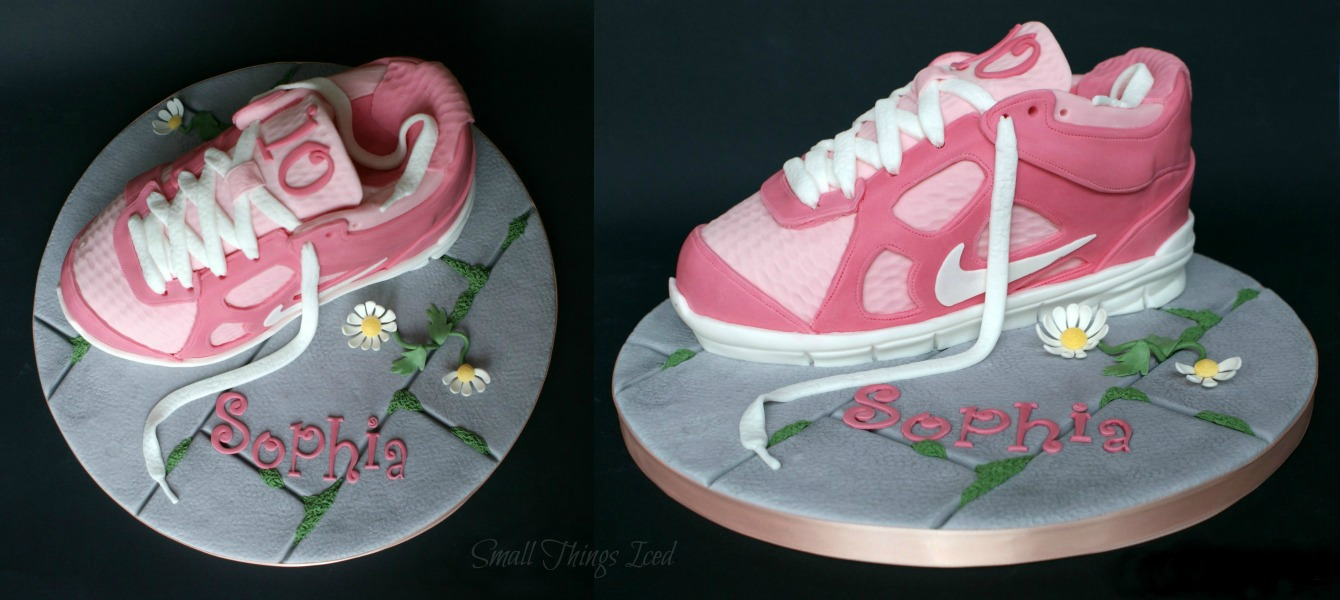 Small Things Iced Trainer Shoe Birthday Cake