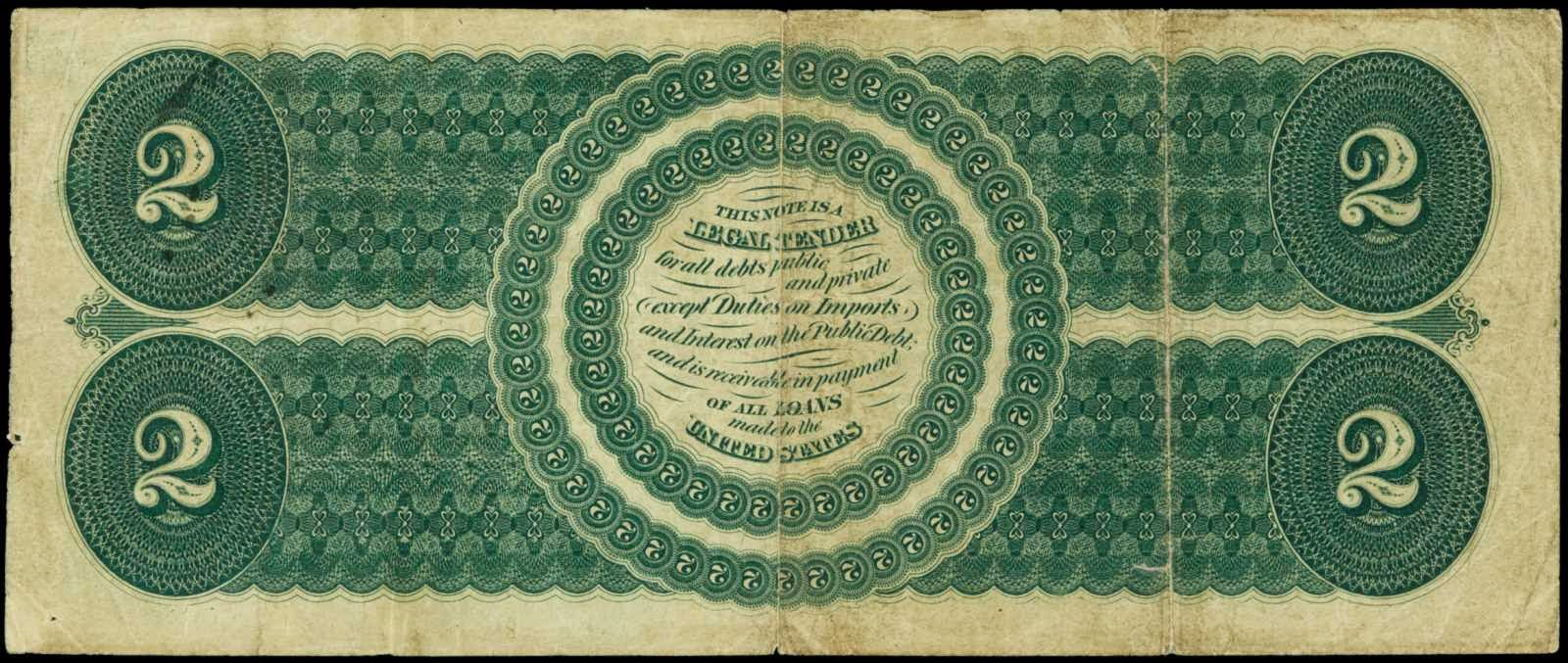 Two Dollar Bill from 1862