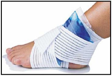 Lesiones corredor de fondo, Curar lesión con frío