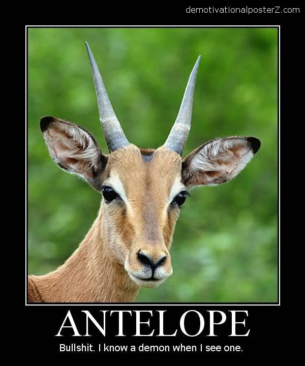 african antelope demon horns demotivator