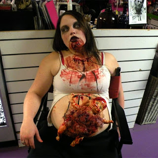 бременна зомби грим хелоуин идея
