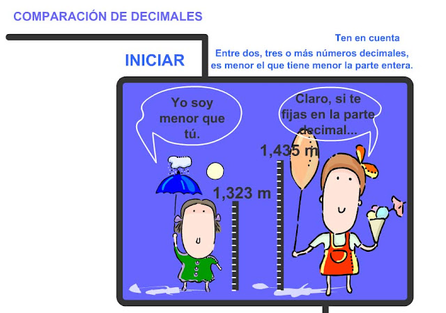 Comparar decimal (menor)