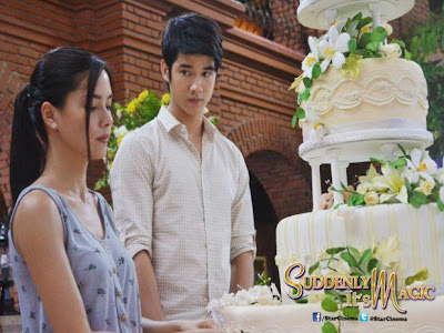 Mario Maurer and Erich Gonzales Suddenly It's Magic Behind-the-scenes photo