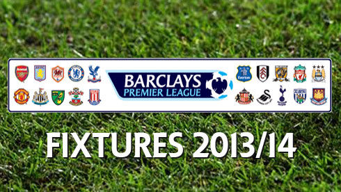 ลีก 2013/2014 Premier League Fixtures 5 First Game 2013-2014