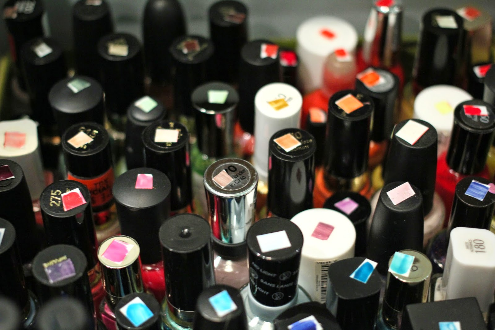 nail polish collection, nail polish swatches, nail polish system, nail polish storage