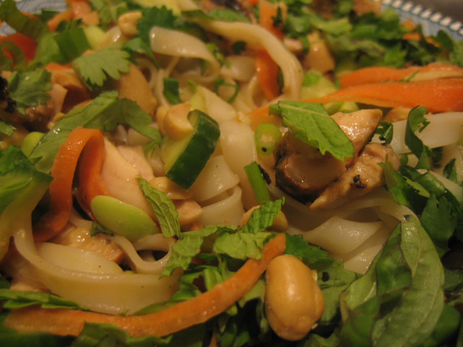 Bookcook: PEANUT-LIME CHICKEN RICE NOODLE SALAD