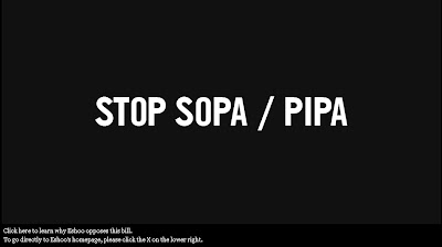 Eshoo Update on SOPA and PIPA