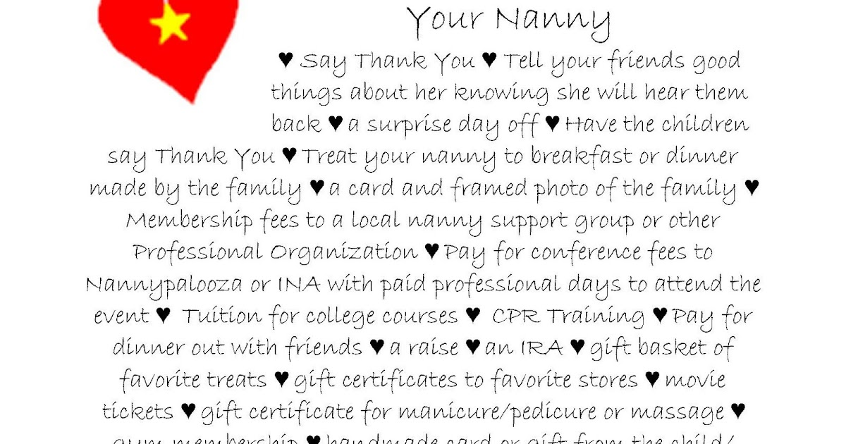 Why i want to be a nanny essay