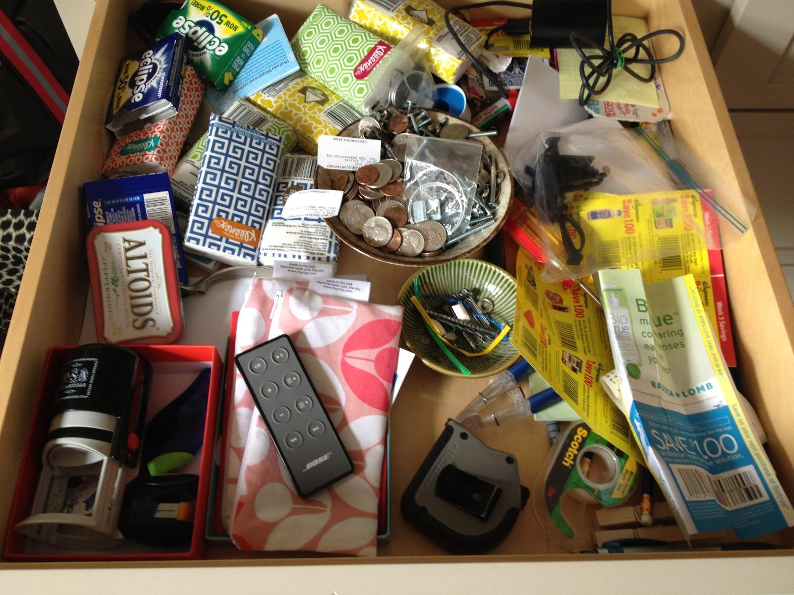 Loft cottage january 2013 for Kitchen junk drawer