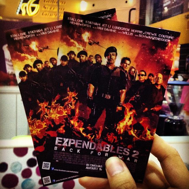 My special screening tickets of The Expendables 2