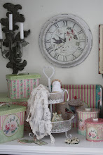 Shabby chic kakfat i vitt