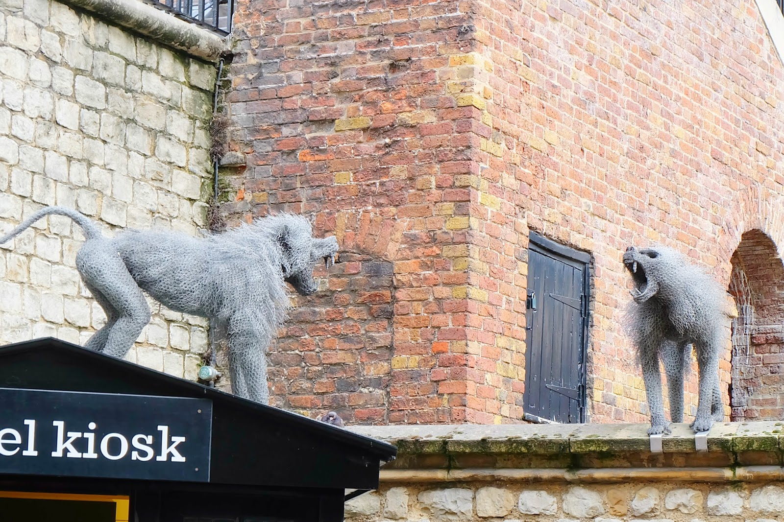 tower of london monkey sculpture