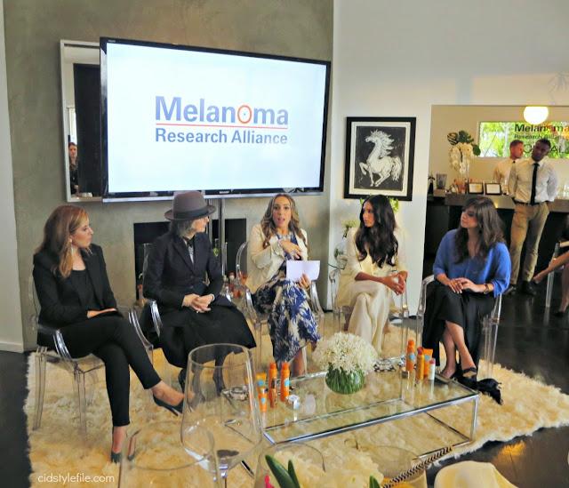 loreal, melanoma awareness, diane keaton, Genesis Rodriguez, Vanessa Hernandez,  beverly hills, sun protection, skin cancer