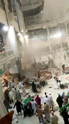 Insiden kren tumbang di masjidil haram,gambar kren tumbang di makkah,gambar ribut pasir di makkah,video kren tumbang di masjidil haram,video ribut pasir di makkah