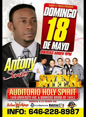 Antony Santos - Swing Estelar - Auditorio Holy Spirit - May 18, 2014