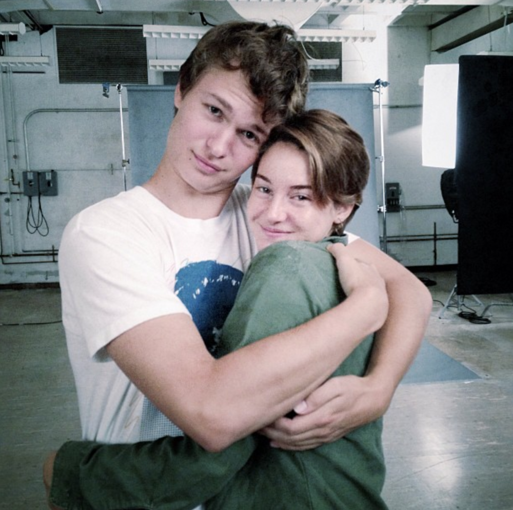 Ansel and shailene first photo together on set of the for The fault in our stars coloring pages