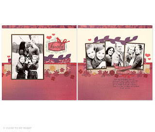 CTMH Sangria Scrapbook Layout